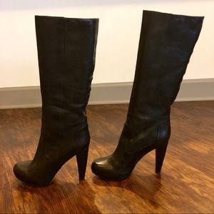 Loeffler Randall Viva Pull-on Leather Boots - NWT